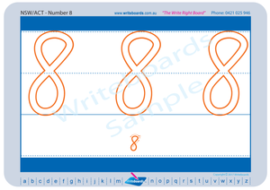 NSW and ACT Childcare and Preschool Resources, NSW Foundation Font Beginner Number Formation Worksheets for Childcare