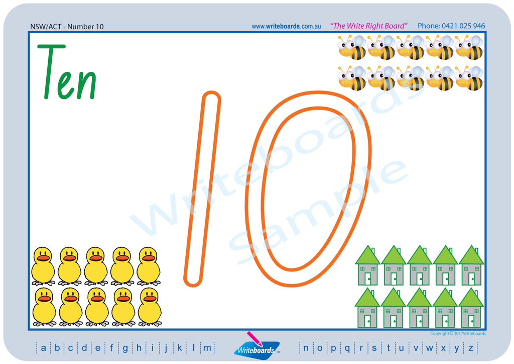 NSW Foundation Font number handwriting worksheets. NSW and ACT number worksheets. Writeboards.