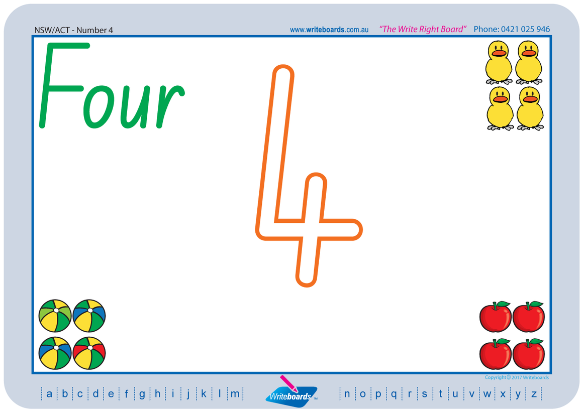 NSW Foundation Font Number worksheets created by Writeboards