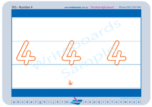 TAS Modern Cursive Font number worksheets for Teachers, Numeracy Tracing worksheets for TAS Teachers