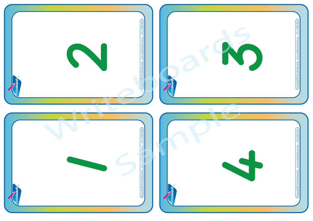 TAS Beginner Font Number Flashcards. Numeracy Flashcards for TAS Beginner Font..