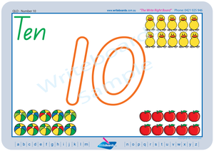Special Needs QLD Modern Cursive Font number handwriting worksheets