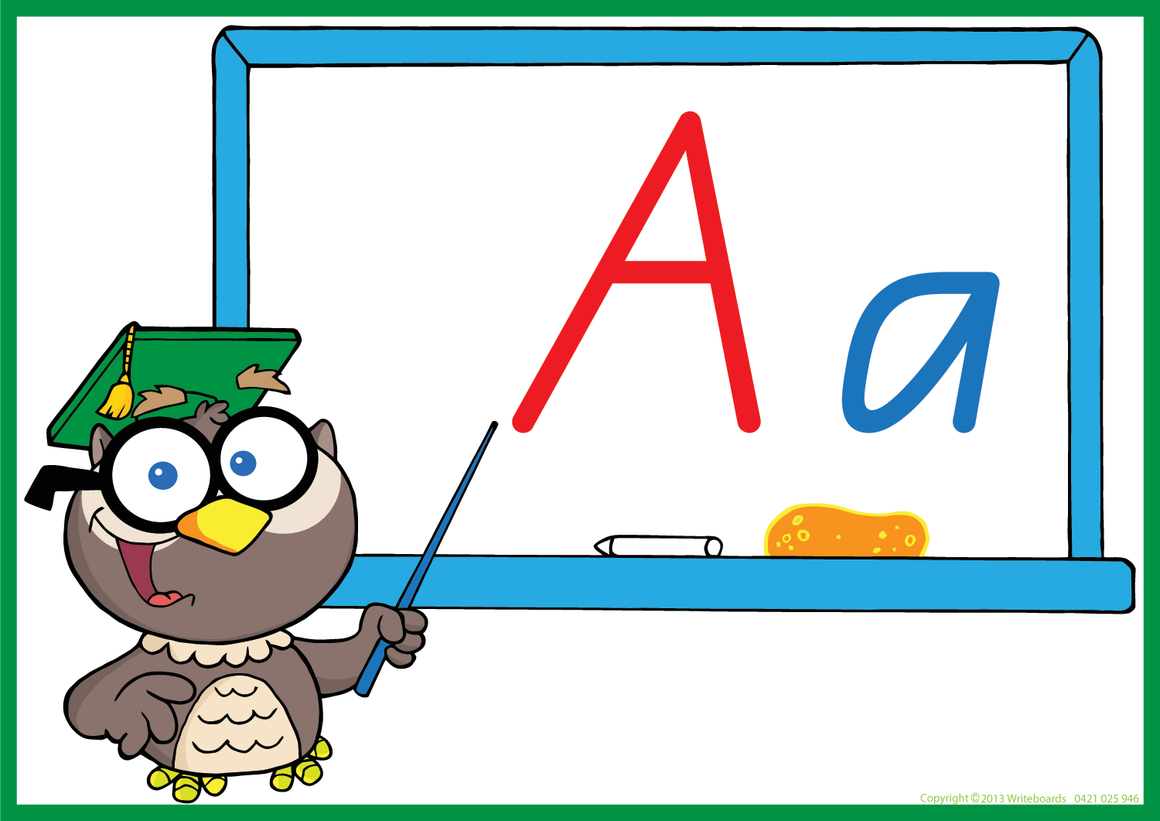Owl Teacher - QLD Modern Cursive Font - Writeboards