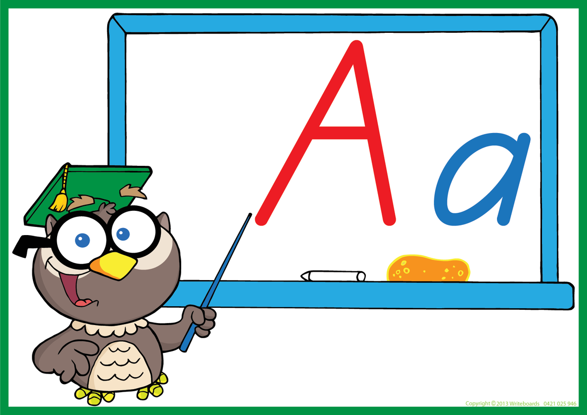 Owl Teacher - SA Modern Cursive Font - Writeboards
