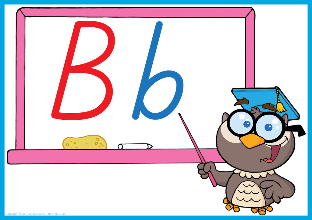 Owl Teacher - TAS Beginner Font - Writeboards