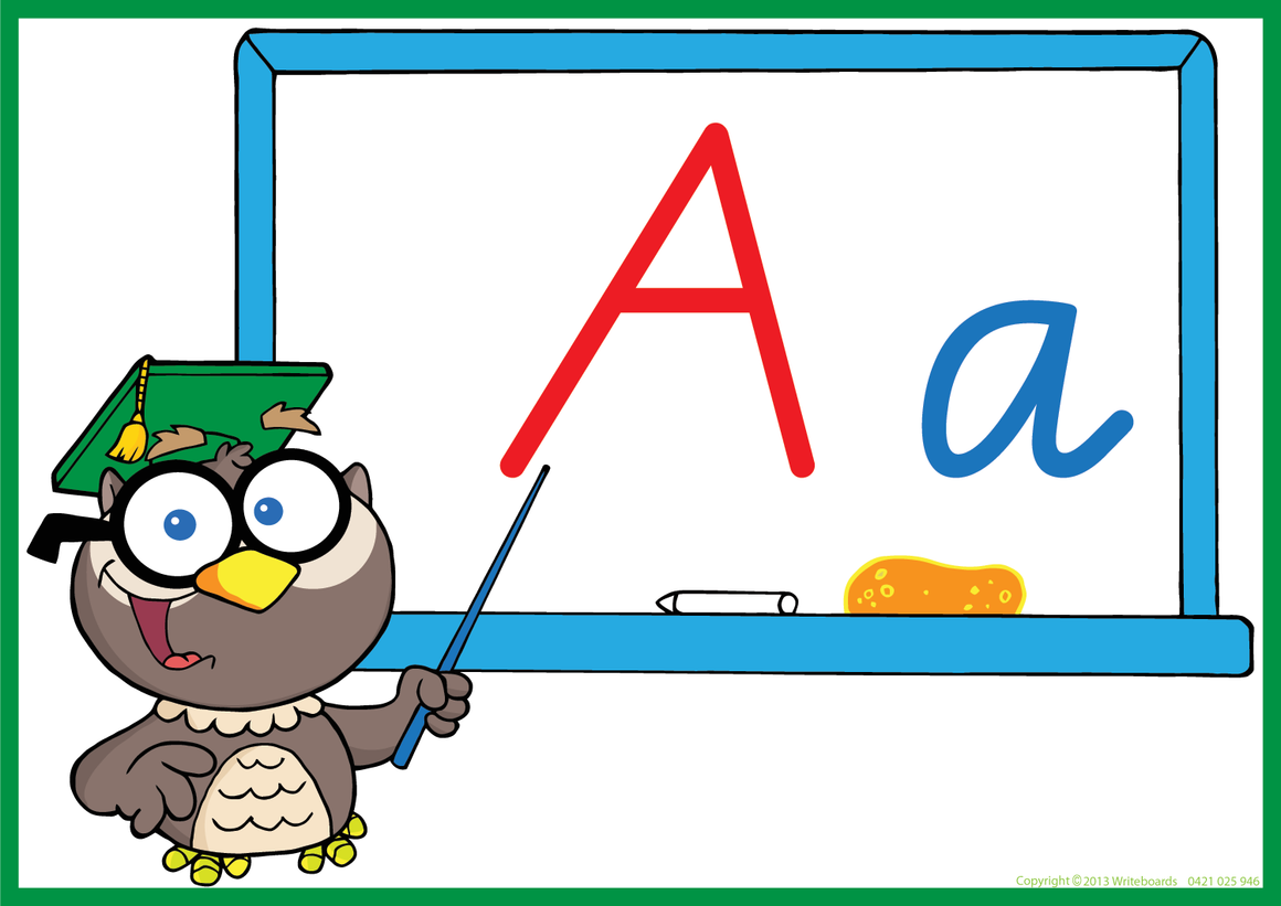 Owl Teacher - VIC Modern Cursive Font - Writeboards