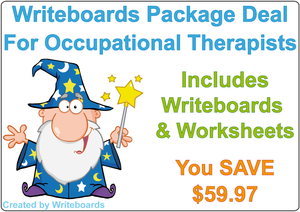 Writing Boards and Worksheets package deal for Occupational Therapists and Tutors, Teaching Resources for Tutors