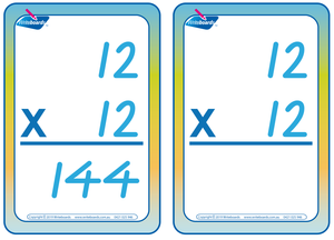 VIC Modern Cursive Font Times Tables Flashcards with and without answers for Occupational Therapists and Tutors