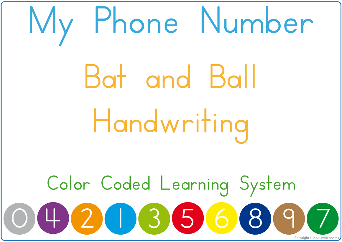 Teach Your Child Their Phone Number the EASY WAY using Color Coding