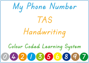 Teach Your Child Their Phone Number Using TAS Handwriting, Colour Coded Learning System