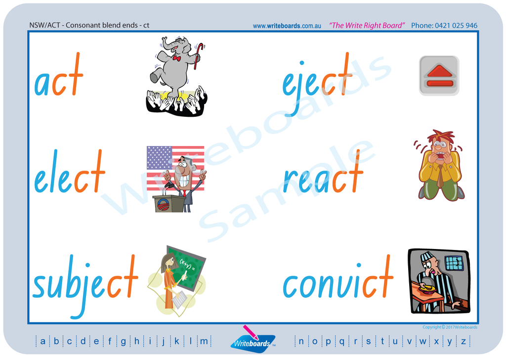 NSW Foundation Font Phonic Worksheets created by Writeboards