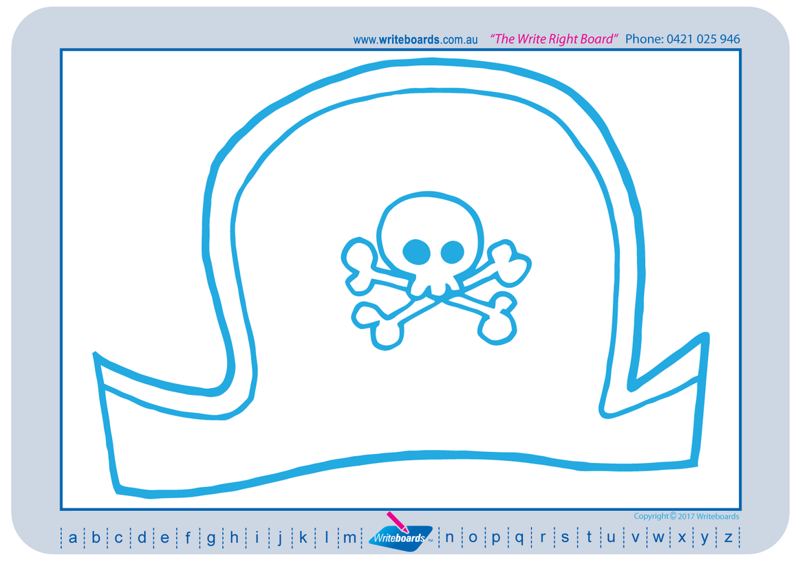 Learn to draw on a grid using your Writeboards,Pirate learn to draw pack on a grid