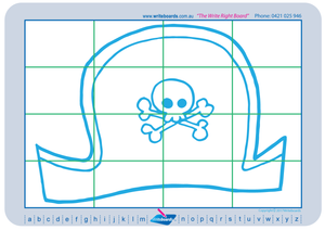 Teach Your Child to Draw Pirates and Related Images using a grid