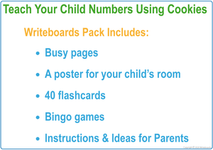 Busy Book Numbers Pack comes with a Free Poster, Flashcards & Bingo Games