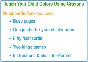 Busy Book Color Pack includes a poster, flashcards, bingo games, and busy pages