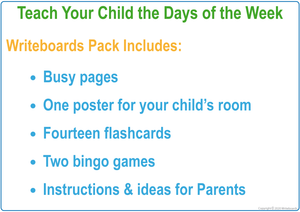 TAS Days of the Week Busy Book Include Free Flashcards & Bingo Games