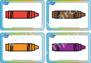Free Color Flashcards for Crayons come with our Busy Book Color Pack