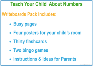 Busy Book for Numbers include Busy Pages, Posters & Flashcards for SA Handwriting