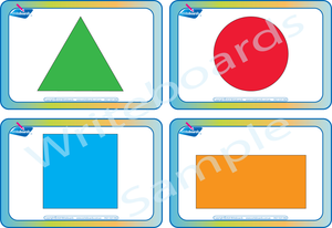 Free Shape Flashcards come with our Shape Busy Book for QLD Handwriting