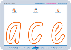 NSW Foundation Font Lowercase Alphabet Worksheets for Childcare and Preschool