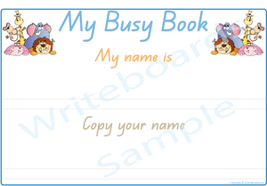 QLD Handwriting - Teach Your Child Their Name Busy Book