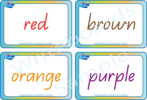 Colour Busy Book for QLD Handwriting comes with Free Colour Flashcards