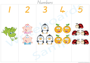 Busy Book Number Pages where your child has to add the Missing Number Word for QLD
