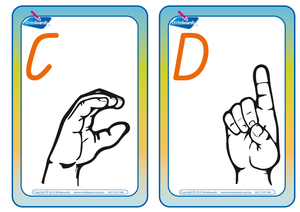 QLD Beginners Font Upper Case Sign Language Flashcards (also known as QBeginners Font)
