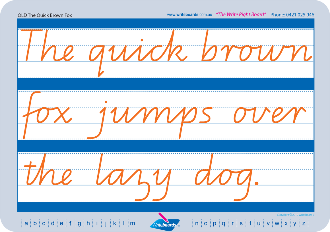 QLD Modern Cursive Font Cursive handwriting worksheets for special needs kids