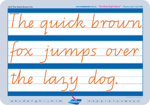 QLD Modern Cursive Font Cursive handwriting worksheets for Occupational Therapists and Tutors