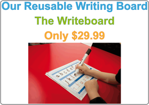 Writing Board for Occupational Therapists & Tutors, Teaching Aide for Occupational Therapists and Tutors, Reusable Board