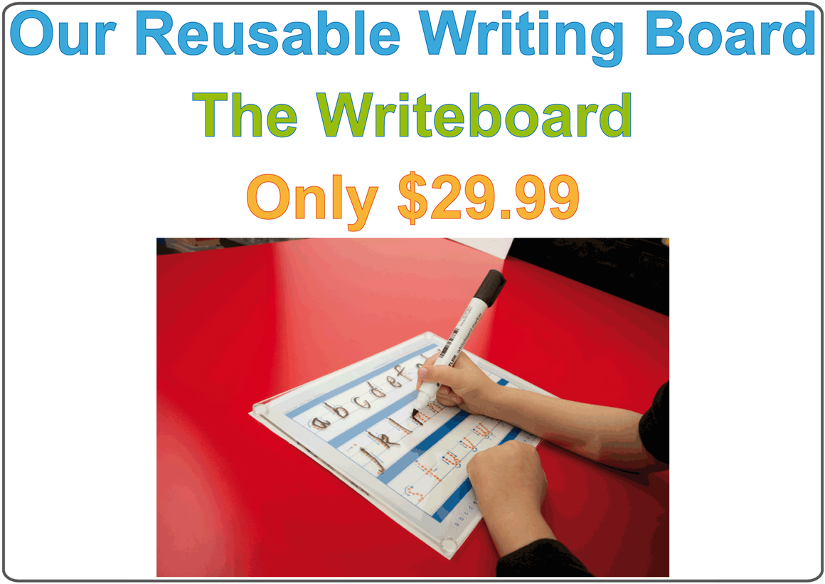 Clear reusable writing board for Occupational Therapists, Eco-Friendly Handwriting board for Occupational Therapists and Tutors