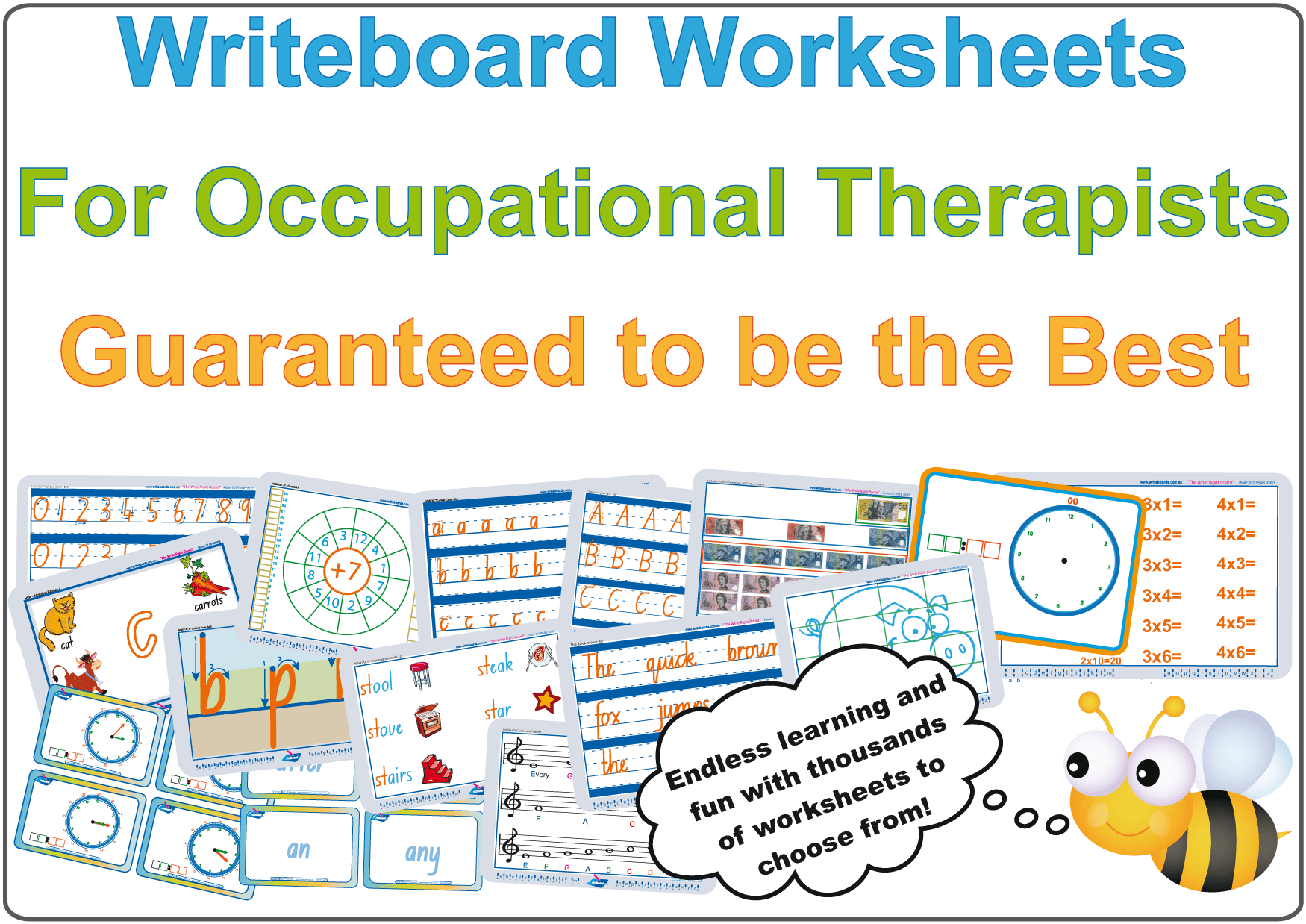 worksheets for occupational therapists writeboards children s writing board. Black Bedroom Furniture Sets. Home Design Ideas