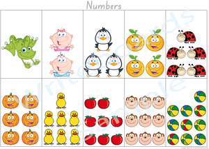 Busy Book Number Pages for SA Handwriting, Your Child has to add the Numbers