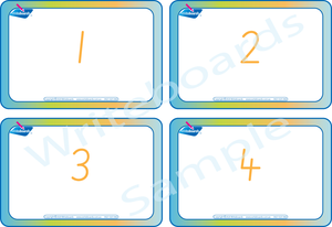 Free Flashcards for SA Handwriting come with the Numbers Busy Book