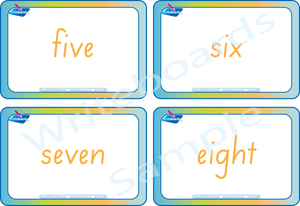 Busy Book Numbers Pack comes with Free Flashcards for SA Handwriting