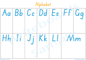 Busy Book Alphabet Pages for SA Handwriting, Your Child has to add the Pictures