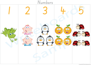 Busy Book Number Pages where your child has to add the Missing Number Word for SA