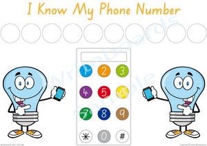 Free Phone Number Poster comes with our I Know My Phone Number Pack, SA Handwriting