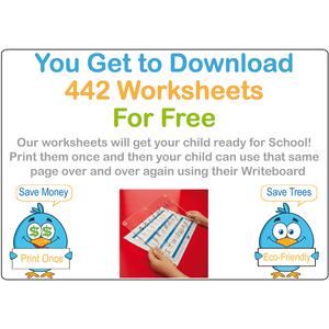 SA School Readiness Kit Comes With 442 FREE Worksheets & our Reusable Writing Board