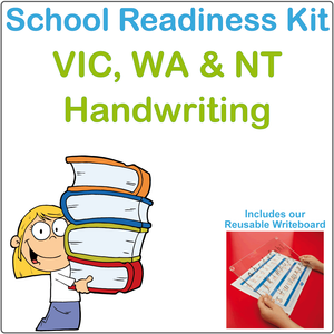 School Readiness Kit for VIC - NT and WA, VIC Infant Cursive Font School Readiness Kit