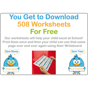 SA School Starter Kit Comes With 508 Free Worksheets & Our Reusable Writing Board