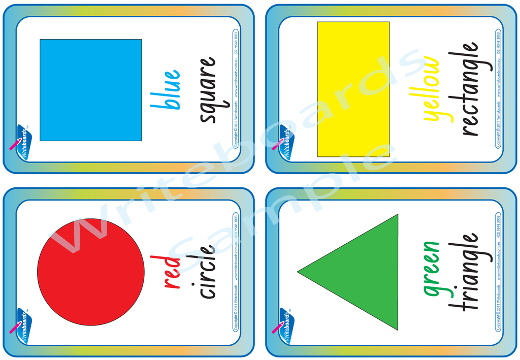 Downloadable and Printable NSW Foundation Font Shape and Colour Flashcards for Teachers and Schools.