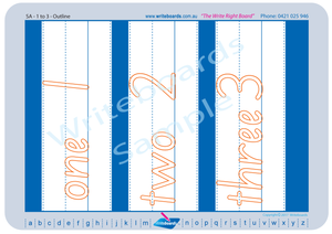 SA Modern Cursive Font number Worksheets for Teachers and Schools, Teachers Resources for SA