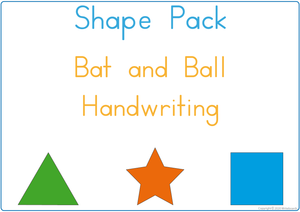 Learning My Shapes - Bat and Ball Handwriting