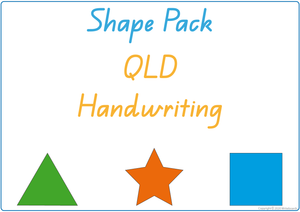 Busy Book Learn Your Shapes Pack for QLD Handwriting, QLD Beginner Font Busy Pack