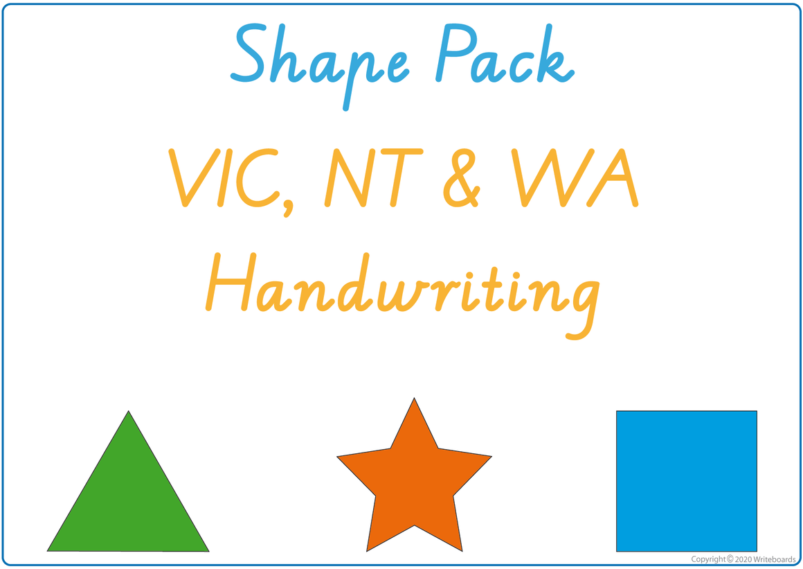 VIC Infant Cursive Busy Book Learn for Shapes, VIC / NT & WA Shape Busy Book