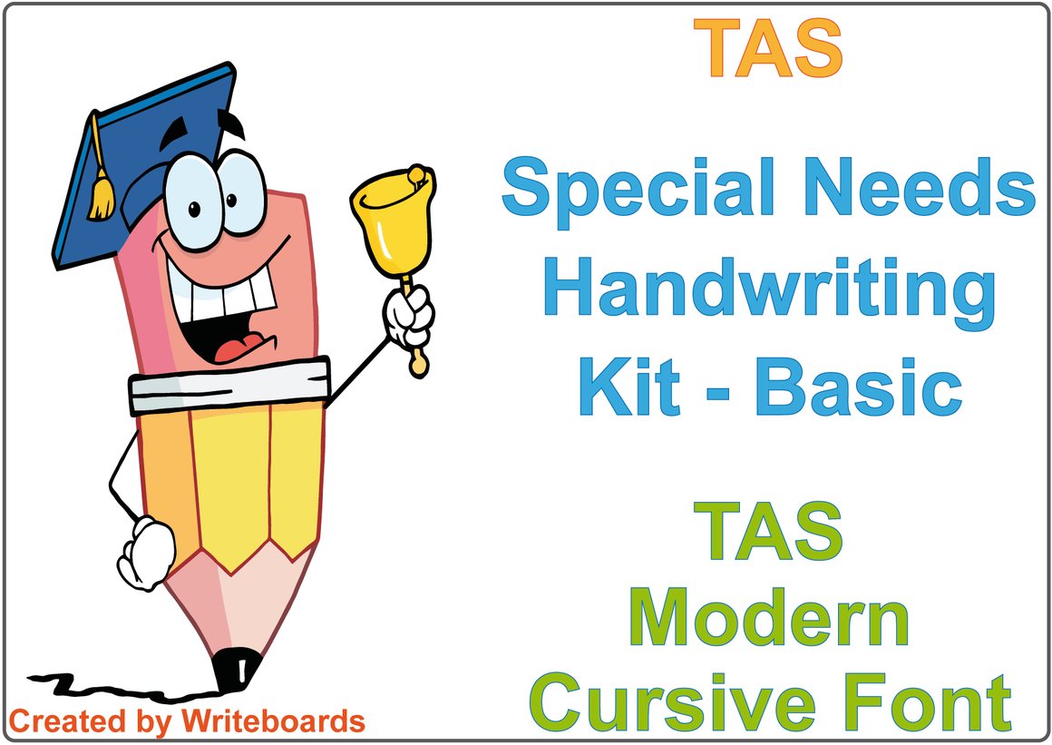 TAS Modern Cursive Font Special Needs Handwriting Kit, Special Needs package deal