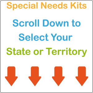 Scroll Down to Select Your Child's State or Territory to View Their Special Needs Kit
