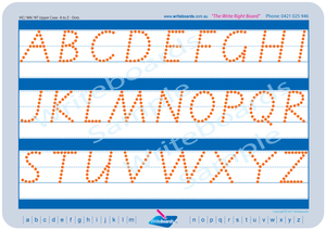 VIC Modern Cursive Font Uppercase Alphabet Tracing Worksheets with Directional Arrows for Occupational Therapists and Tutors